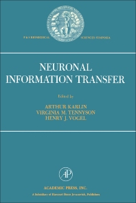 Neuronal Information Transfer - 1st Edition - ISBN: 9780123984500, 9780323148825