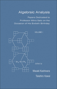 Algebraic Analysis - 1st Edition - ISBN: 9780124004658, 9781483268026