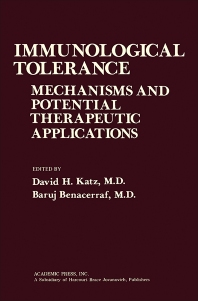 Immunological Tolerance - 1st Edition - ISBN: 9780124016507, 9781483273433