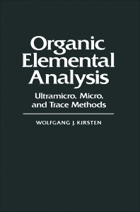 Organic Elemental Analysis - 1st Edition - ISBN: 9780124102804, 9780323160896
