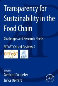 Transparency for Sustainability in the Food Chain - 1st Edition - ISBN: 9780124171954, 9780124172029