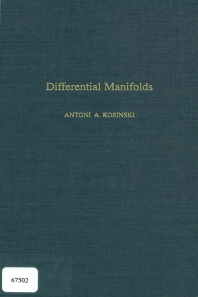 Differential Manifolds - 1st Edition - ISBN: 9780124218505, 9780080874586
