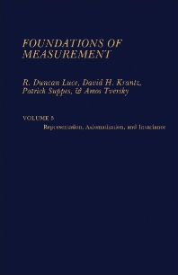 Cover image for Foundations of Measurement