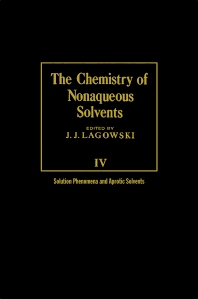 The Chemistry of Nonaqueous Solvents V4 - 1st Edition - ISBN: 9780124338043, 9780323139380