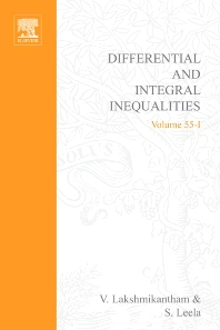 Cover image for Differential and Integral Inequalities: Theory and Applications