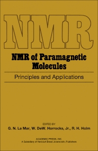 NMR of Paramagnetic Molecules - 1st Edition - ISBN: 9780124345508, 9781483272450