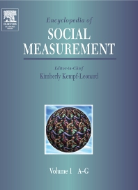 Encyclopedia of Social Measurement, 1st Edition,Kimberly Kempf-Leonard,ISBN9780124438903