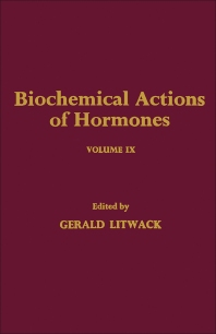 Cover image for Biochemical Actions of Hormones V9