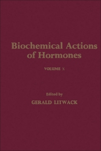 Cover image for Biochemical Actions of Hormones V10