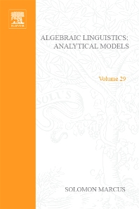 Cover image for Algebraic Linguistics; Analytical Models by Solomon Marcus