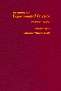 Geophysics Laboratory Measurements - 1st Edition - ISBN: 9780124759664, 9780080860114