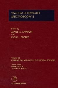Vacuum Ultraviolet Spectroscopy II - 1st Edition - ISBN: 9780124759794, 9780080860220