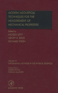 Modern Acoustical Techniques for the Measurement of Mechanical Properties - 1st Edition - ISBN: 9780124759862, 9780080531403