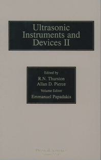 Reference for Modern Instrumentation, Techniques, and Technology: Ultrasonic Instruments and Devices II - 1st Edition - ISBN: 9780124779457, 9780080538914