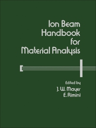 Ion Beam Handbook for Material Analysis - 1st Edition - ISBN: 9780124808607, 9780323139861