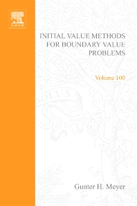 Cover image for Initial Value Methods for Boundary Value Problems: Theory and Application of Invariant Imbedding