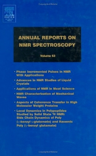 Annual Reports on NMR Spectroscopy, 1st Edition,Graham Webb,ISBN9780125054539