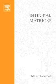 Cover image for Integral Matrices