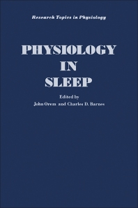 Physiology in Sleep - 1st Edition - ISBN: 9780125276504, 9780323154161