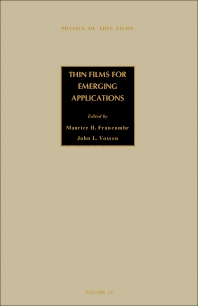 Thin Films for Emerging Applications - 1st Edition - ISBN: 9780125330169, 9781483288918