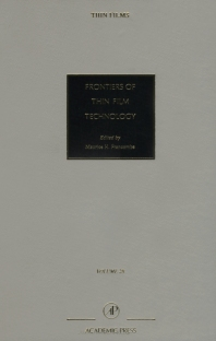 Cover image for Frontiers of Thin Film Technology