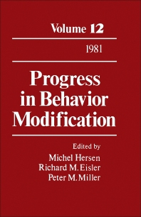 Progress in Behavior Modification - 1st Edition - ISBN: 9780125356121, 9781483219127