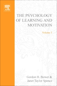 Psychology of Learning and Motivation - 1st Edition - ISBN: 9780125433037, 9780080863542
