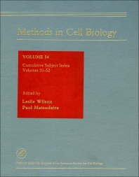 Cover image for Methods in Cell Biology