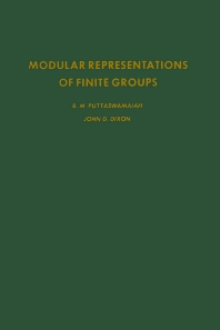 Cover image for Modular Representations of Finite Groups