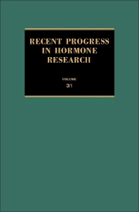Recent Progress in Hormone Research - 1st Edition - ISBN: 9780125711319, 9781483219516