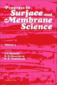 Progress in Surface and Membrane Science - 1st Edition - ISBN: 9780125718042, 9781483219707