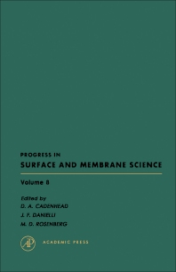 Progress in Surface and Membrane Science - 1st Edition - ISBN: 9780125718080, 9781483219745