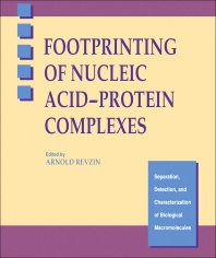 Cover image for Footprinting of Nucleic Acid-Protein Complexes