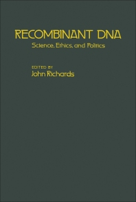 Recombinant DNA - 1st Edition - ISBN: 9780125874809, 9780323153065