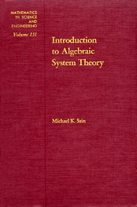 Cover image for Introduction to Algebraic System Theory