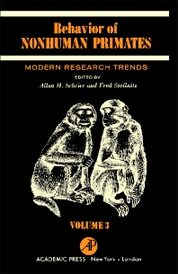 Behavior of Nonhuman Primates - 1st Edition - ISBN: 9780126291032, 9781483259772