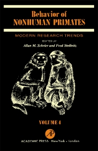 Cover image for Behavior of Nonhuman Primates