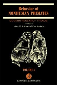 Cover image for Behavior of Nonhuman Primates