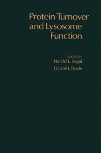 Protein Turnover and Lysosome Function - 1st Edition - ISBN: 9780126361506, 9781483220192