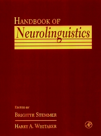 Cover image for Handbook of Neurolinguistics