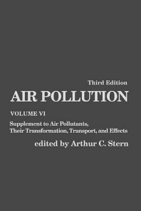Air Pollution, 3rd Edition,Arthur Stern,ISBN9780126666069