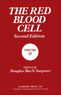 The Red Blood Cell - 2nd Edition - ISBN: 9780126772029, 9781483257501