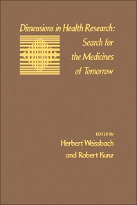 Cover image for Dimensions In Health Research: Search For The Medicines Of Tomorrow