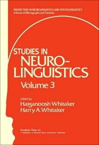 Studies in Neurolinguistics - 1st Edition - ISBN: 9780127463032, 9781483265414
