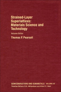Cover image for Materials Science and Technology: Strained-Layer Superlattices