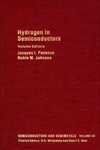 Hydrogen in Semiconductors - 1st Edition - ISBN: 9780127521343, 9780080864310