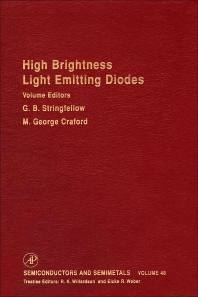High Brightness Light Emitting Diodes - 1st Edition - ISBN: 9780127521565, 9780080864457