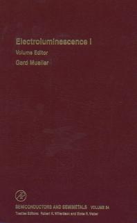 Cover image for Electroluminescence I