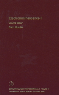 Electroluminescence II - 1st Edition - ISBN: 9780127521749, 9780080864631