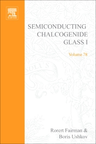 Semiconducting Chalcogenide Glass I - 1st Edition - ISBN: 9780127521879, 9780080525266